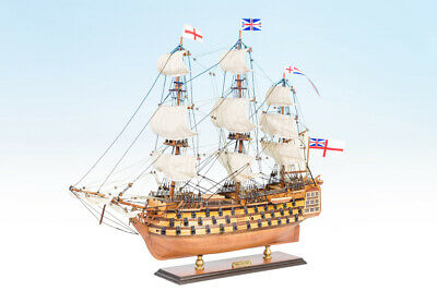 Hms Victory Wooden Model Marine Ship Boat Completed Handmade Gift Decor 45Cm