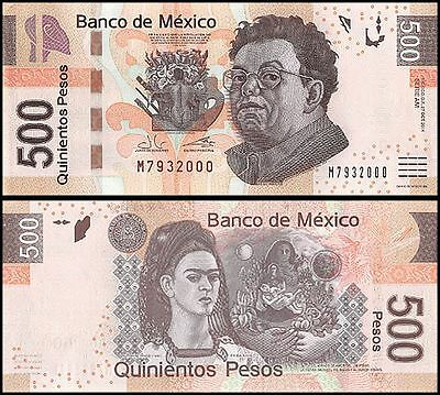 Mexico 500 Pesos, 2013, P-126, UNC, Series AM