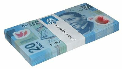 Mexico 20 Pesos X 100 Pieces, 2013, P-122, UNC, Series-X, Bundle, Pack, Polymer