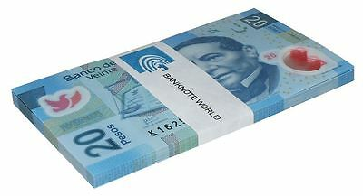 Mexico 20 Pesos X 50 Pieces (PCS), 2013, P-122, UNC, Series-X, Half Bundle, Pack