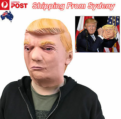 Donald Trump Head Mask American President Latex Prop Costume Cosplay Party Funny