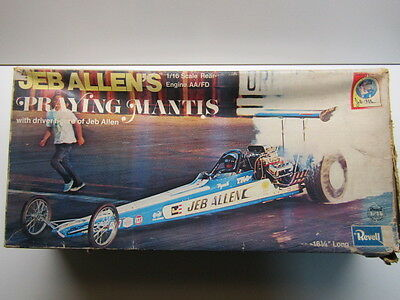 """Revell Vintage 1/16 Scale Jeb Allen's """"Praying Mantis"""" AA/FD Model Kit Used Rare"""