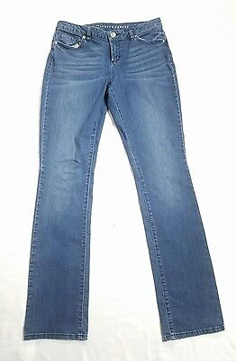 Womens LAUREN CONRAD Blue Denim Pants Straight Leg Jeans sz 10 - 30 x 33 W19