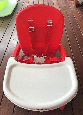 Mothercare Red Plastic Baby Toddler Feeding Folding Travel Highchair PICKUP ONLY