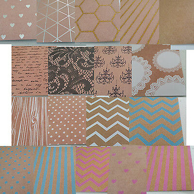18 Sheets Mix Pattern Square Stock Card Paper for Craft, ~15cm x 15cm