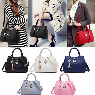Women Leather Handbag Purse Lady Tote Messenger Satchel Crossbody Shoulder Bag