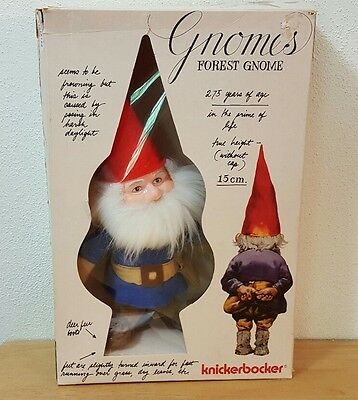 Vintage Forest Gnome Gnomes Doll Knickerbocker 1976 In Opened Box