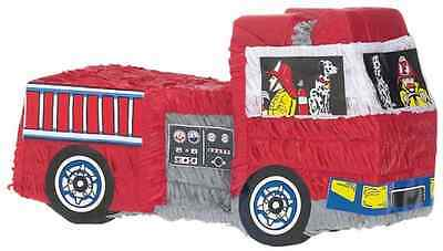 Fire Engine & Fireman Party Pinata with Stick 45cm