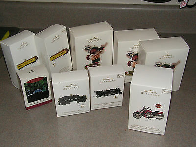 9 Hallmark Keepsake Christmas Ornaments Dating Back to '95 Like New in the Box!