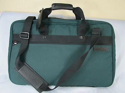 """Briggs & Riley Green Teal Nylon Expandable Luggage Carry On Travel Luggage  21"""""""