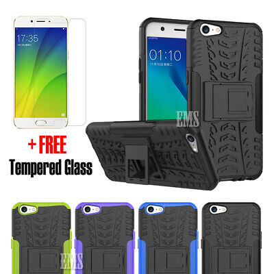 Heavy Duty Tough Strong TPU Shockproof Case Cover For Oppo A57 +Screen Protector
