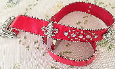 New Western Style Fashion Red Belt size 34