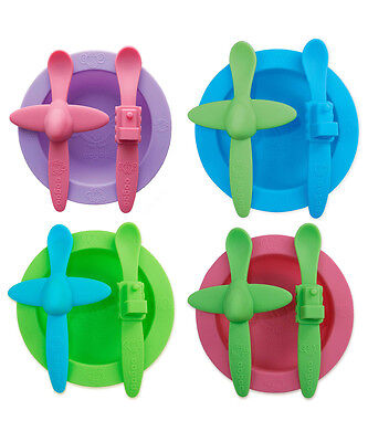 Oogaa Kids Toddler Baby Silicone BPA Free Mealtime Set - 4 Colour Options