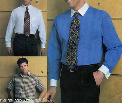 Vogue Men 7925 Sleeve Options Dress or Casual Shirt Sewing Pattern*16.5-17-17.5