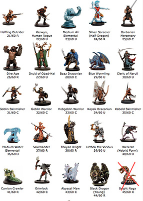 Dungeons & Dragons - Dragoneye Miniatures - Near Complete Set - Lot of 59 Minis