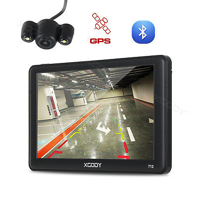 "XGODY 712 8GB 7"" GPS Navigation System With Reversing View Camera 256MB RAM FM"