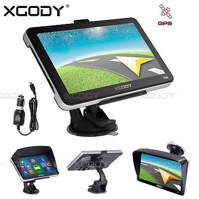 XGODY 7 inch SAT NAV Car GPS Navigation with UK EU Maps Free Lifetime Update