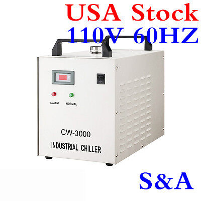 S&A CW-3000DF Thermolysis Industrial Water Chiller for 0.8KW/1.5KW Spindle Cool