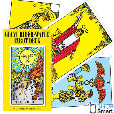 Giant Rider Waite Tarot Deck Cards Esoteric Telling Big Size New