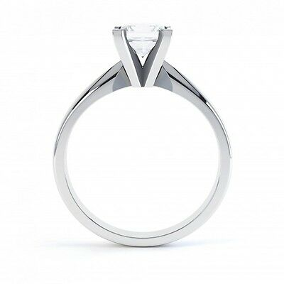 18ct Princess Cut Diamond Solitaire Ring - Traditional