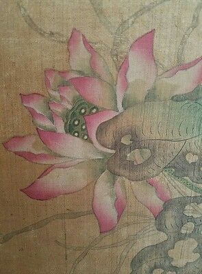 Antique Chinese Scroll Painting Poss Ming Dynasty Imperial Qianlong Seal
