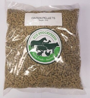 100% Oaten Pellets for Rabbits, Guinea Pigs & Small Animal Food 1kG