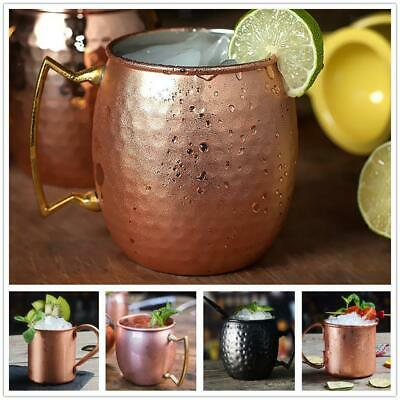 Moscow Mule Copper Plated Mug Glass Cup Brass Handle 530ML Bar Party #4