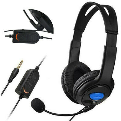 3.5mm Wired Gaming Headset Headphones with Microphone for Sony PS4 PC XBOX ONE