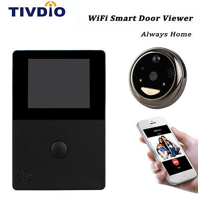 "2.8"" WiFi OLED HD Screen Monitor Door Viewer Front Door Peephole Camera Doorbell"