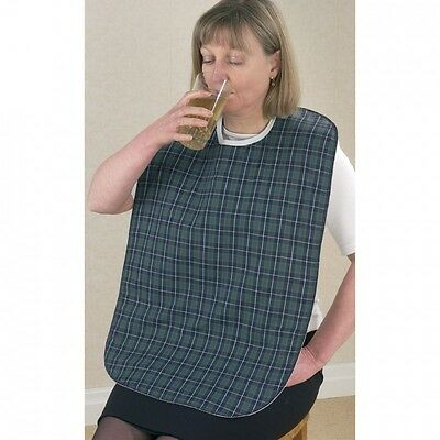 Senset Standard Tartan Bib - Medical Patient Adult Eating Drinking Reusable