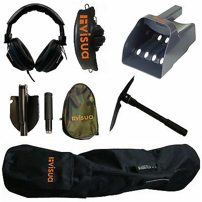 Visua Premium Metal Detector Accessory Kit & Folding Pick / Shovel FREE DELIVERY