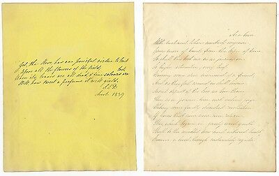 Early 19th-century handwritten transcribed poetry - 53 manuscript sheets