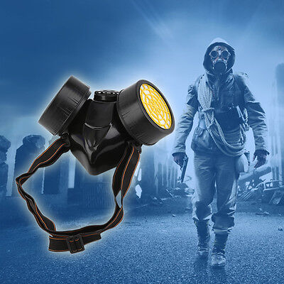 Emergency Survival Safety Respiratory Gas Mask With 2 Dual Protection Filter DY