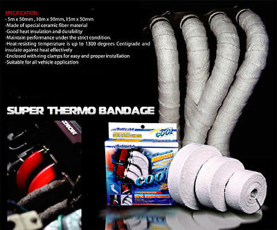 Buddy Club Exhaust Wrap Thermal Super Thermo Heat Bandage 10 Metres Y0815