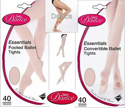 Silky Essential Convertible Ballet Dance Tight Transition FootedFootless Fishnet