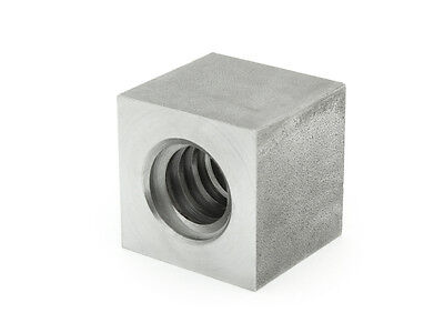 Trapezoidal Thread Nut evkm 10x2 Right Steel, Square sw17l15