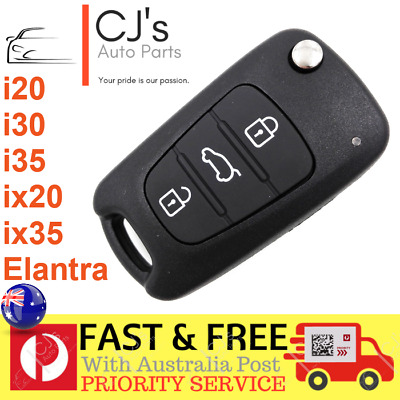 Hyundai i30 i20 Elantra 3 Button Flip Key Replacement Remote Case Shell Blank