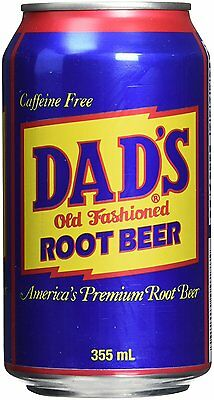 Dad's Root Beer 355ml Can x 24 Pack - Imported from USA