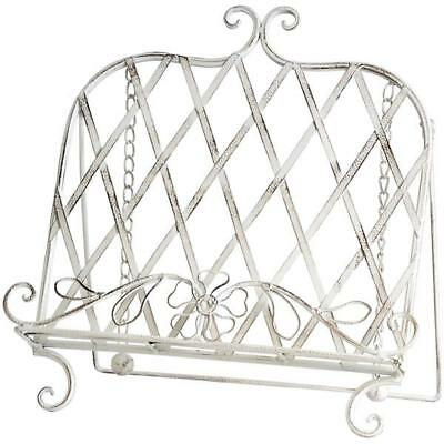 French Shabby Vintage Chic Cream Recipe Cook Book Cookbook Holder Stand