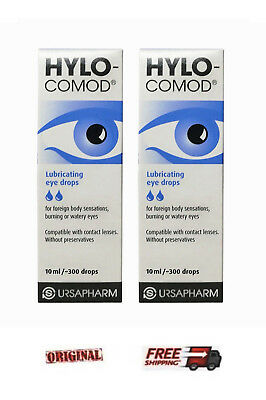 2 x Hylo Comod Ursapharm 10ml Hyaluronic prescription-free eye drops