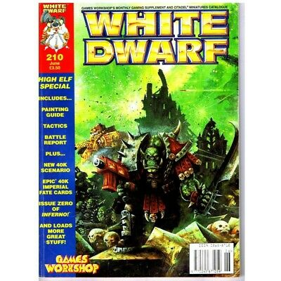White Dwarf Magazine No 210 June  MBox2522 High Elf Special includes Painting Gu