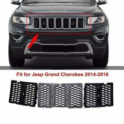 Upper Grille Insert Honeycomb Grill Mesh Black For Jeep Grand Cherokee 2014 2015