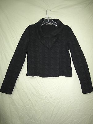 "Gorgeous  ""METALICUS""  Black Textured Knit Jacket Size S / M"