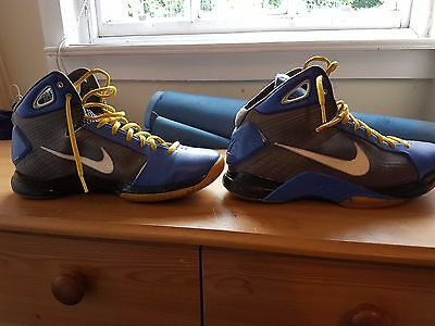 Blue/Yellow/Grey -NIKE BASKETBALL SHOES - HYPERDUNK - SIZE 10 (45) - Sport Shoes