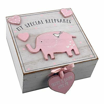 Petit Cheri My Special Baby Girl Keepsake Box - New Baby, Shower, Christening