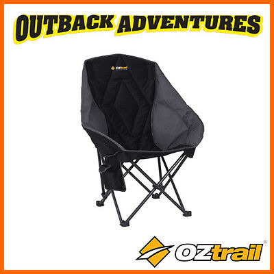 OZtrail PLUTO BLACK CAMP CHAIR OUTDOOR CAMPING FREE POSTAGE