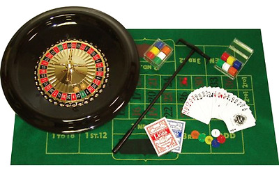 Deluxe Roulette Set with Accessories Trademark Poker 16 Inch Poker Card Games