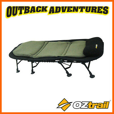Oztrail Luxury Cushion Stretcher Bed Powder Coated Frame Camping Tent Bed