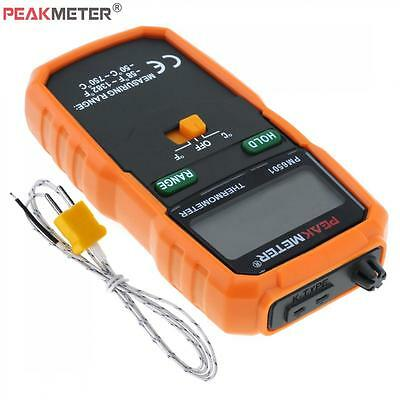 Max 1382℉ / 750℃ LCD Thermometer K Type Thermocouple Probe Temperature Meter