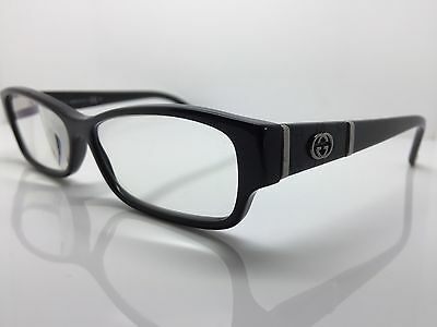 GUCCI Slight Cats Eye Black Used Glasses Eyeglasses Eyeglass Frames